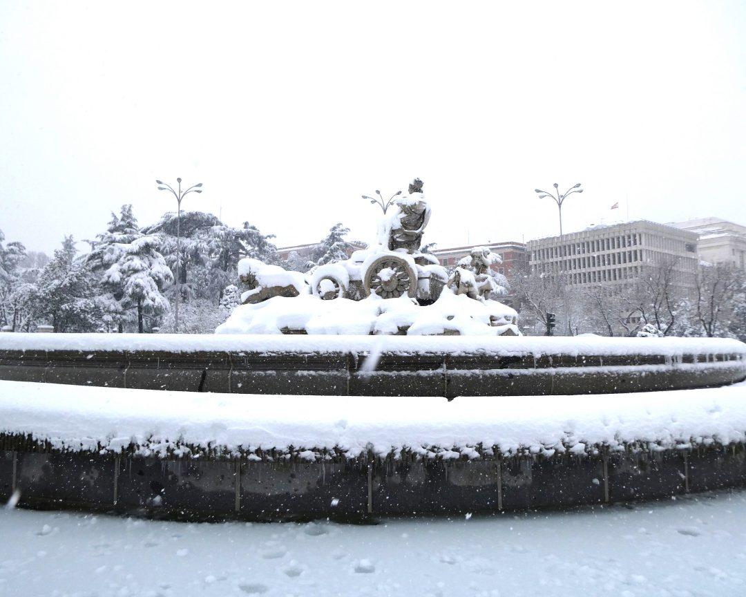 Cibeles nieve Madrid